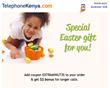 Kenyans Oversea Receive International Calling Minutes as Easter Gift from TelephoneKenya.com