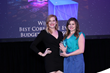 Event designers Casee Safford and Lindsey Wolf, DMCP, accepting the Texas Star Award on behalf of Ultimate Ventures