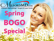 MilfordMD Announces April Spring BOGO Special: Buy One Filler Treatment; Get a Complimentary MediSpa Treatment, with Choices that Include HydraFacial, Peels or Microderm