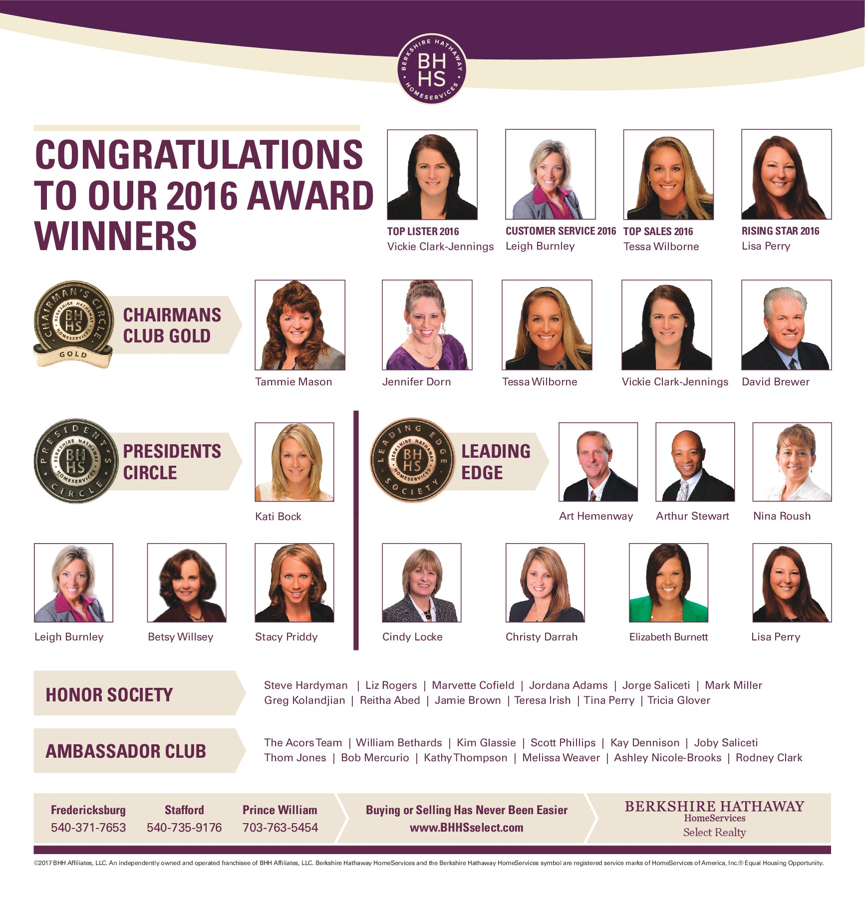 berkshire hathaway homeservices select realty honors associates