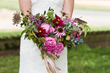Nothing says local like fresh-from-the-farm herbs, vegetables and fruits integrated in a garden-inspired wedding bouquet. This aesthetic is just right for a foodie couple and their farm-to-table recep