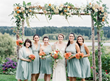 "An alder-pole arbor handcrafted from trees foraged from the farm of Whidbey Island florist Tobey Nelson is lavishly decorated with sherbet-toned flowers sourced from local farmers. ""I selected the tra"