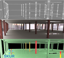 SKUR compares model designs to as-built conditions to provide accurate variance detection