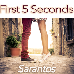 Sarantos song artwork First 5 Seconds solo music artist Voice of Chicago new pop rock free release American Heart Association Charity