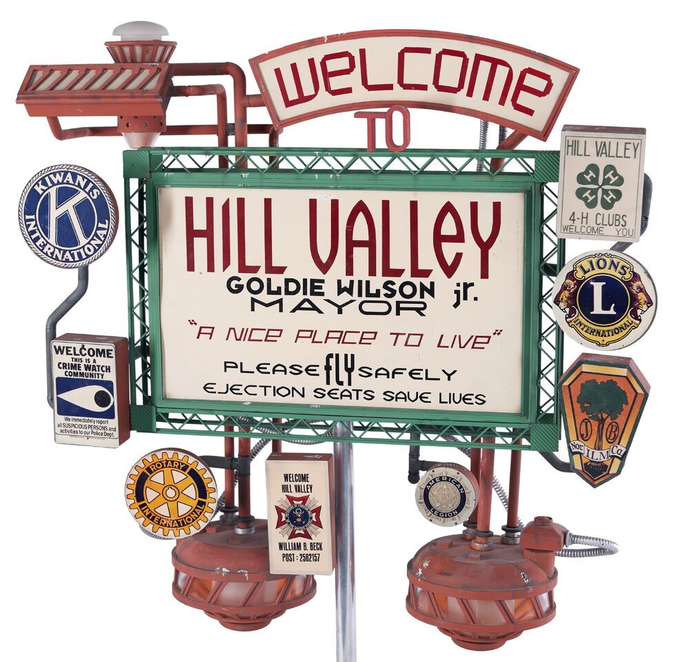 Back To The Future 2 Hill Valley Welcome SignThis Item Is Just One Of Dozens Iconic Movie And TV Memorabilia Up For Auction
