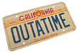 Back to the Future 2 OUTATIME license plate