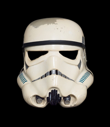 Star Wars New Hope Stormtrooper Helmet sold for $228,000 at the ScreenUsed live auction during Silicon Valley Comic Con 2017.
