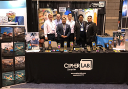CipherLab Sales Team at PROMAT 2017