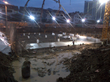 Getting started in Hanoi: The concrete pour for the foundation slabs of the An Binh City residential towers (each 28-35 floors) began at night.