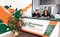 Astoria natives Tracey Pomponio-Lasko (left) and Linda Pomponio (right) run the new Minuteman Press design, marketing, and printing business located at 31-16 36th Avenue in Astoria, Queens, NY