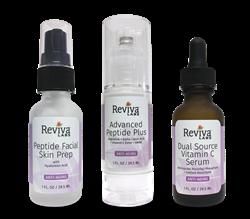 Anti-Aging Trio Facial Skin Prep, Advanced Peptide Plus, and Dual Source Vitamin C Serum