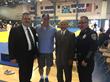 Sensei Brian Money; Riverside Mayor Rusty Bailey; Tadashi Hiraoka; Riverside Police Chief Sergio Diaz Supporters of the Riverside Youth Judo Club and Special Needs Championships