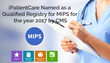 iPatientCare Named as a Qualified Registry for MIPS for the year 2017 by CMS