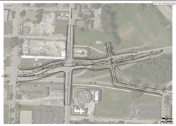 Preliminary engineering plans for the transportation project at the Paseo Gateway
