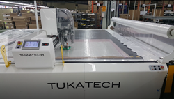 Customized extra-wide TUKAcut automatic cutting machine installed at Cupid Intimates Nicaragua facility