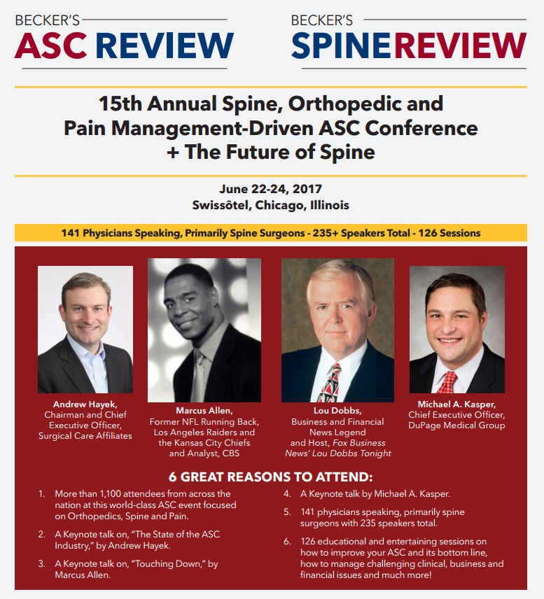 Becker's Healthcare to host annual Spine, Orthopedic and
