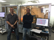 Dr. Christopher Muryn and Dr. Inigo Vitorica-Yrezabal with the Rigaku XtaLAB FR-X DW X-ray diffractometer system