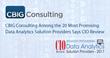 Award-Winning CBIG Consulting Fulfills Promise of Data Analytics Solutions