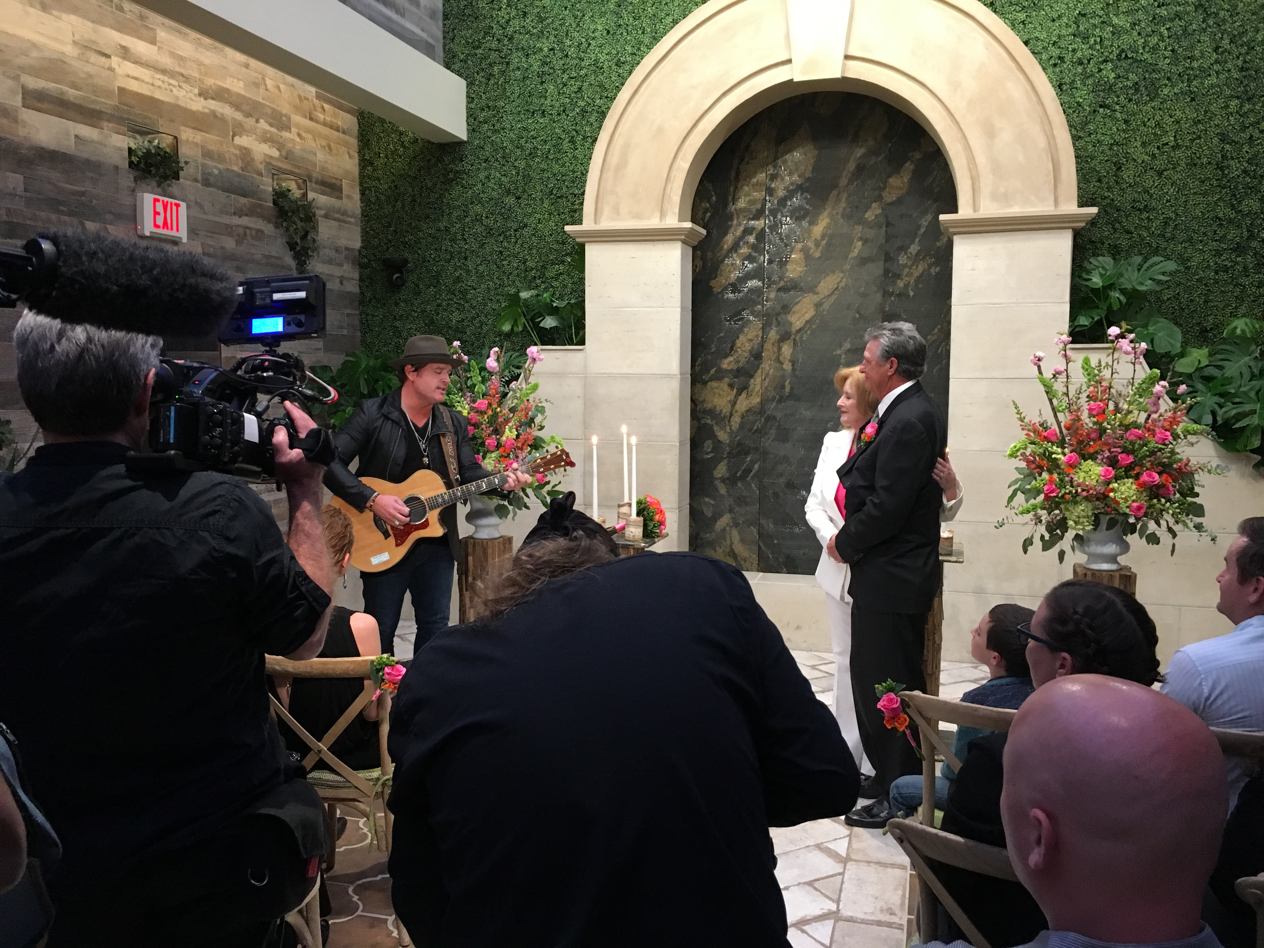 Country Music Star Jerrod Niemann Surprises Couple During Vow Renewal Ceremony At Chapel Of The