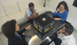 PTE Quattro in the center of your meeting room table