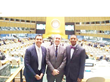 Dr. Ayman El Tarabishy, ICSB Executive Director; Guido Crilchuk, Second Secretary, Second Committee; and Dr. Winslow –Sargeant, ICSB VP Development ICSB