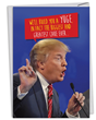 "New Trump-themed birthday card from NobleWorks Cards. Inside message is: ""...And We'll Make The Candles Pay For It! Happy Birthday"""