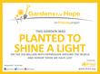 Garden For Hope Sunflower Sign