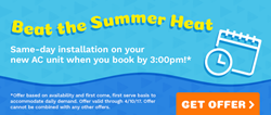 beat the summer heat - all year cooling coupon