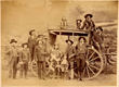 Buffalo Bill and Major Burke with stagecoach
