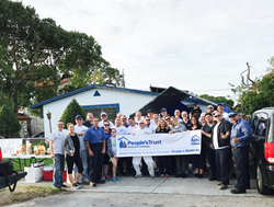 Volunteers from People's Trust join together with Rebuild Broward to make a difference