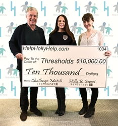 Peter Francis Geraci and Holly Geraci Donating to Thresholds