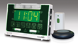 Serene Innovations CentralAlert CA-360 Clock/Receiver Notification System can alert you to your NOAA weather radio.