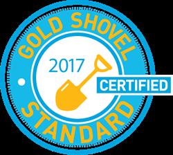 Image of the Gold Shovel Standard Certified Logo