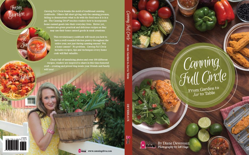 Cookbook Back Cover : The canning diva reveals new approach to healthy food