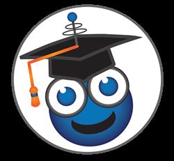 deaffriendly Mascot with graduation cap