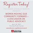Junior League of Boston to Host Public Advocacy Forum on April 29