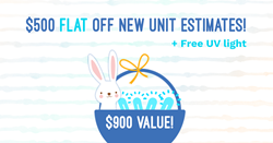 Easter All Year Cooling Coupon 900 Value