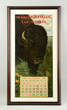 "Framed ""The Union Metallic Cartridge Co."" 1900 calendar, estimated at $10,000-15,000."