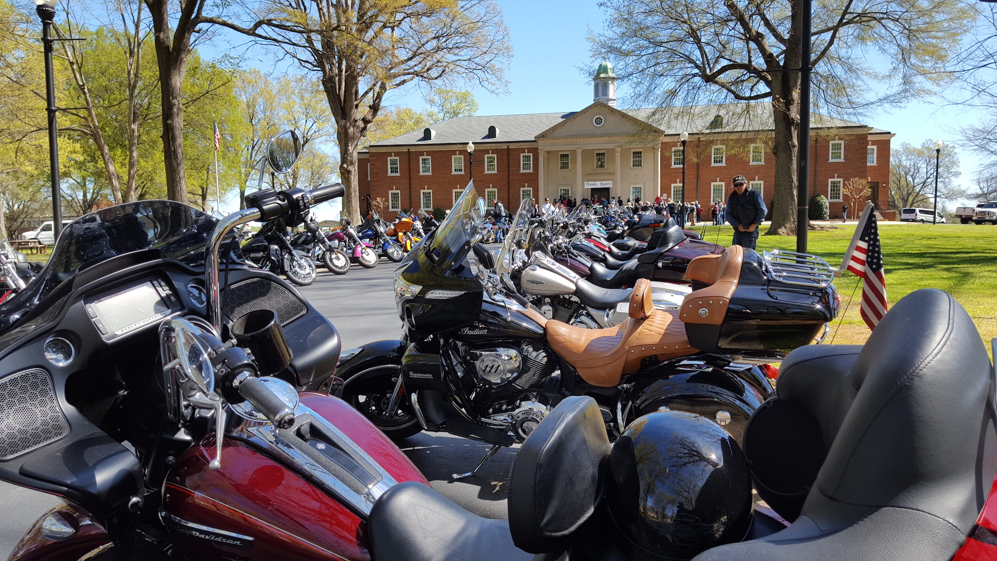 bikers from ray price harley u0026 triumph dealership pay easter visit