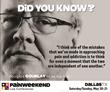 Two Days of Pain Management CE/CME: Dallas PAINWeekEnd Conference May 20 and 21