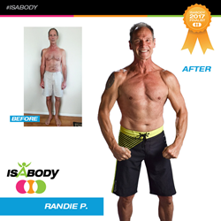 One of the five new IsaBody Challenge finalists, Randy from Kapaa, Hawaii has completed nine challenges and has gained 15 pounds of lean muscle