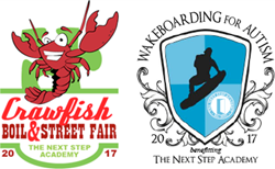 1st Annual Crawfish Boil & Street Fair and the Wakeboarding for Autism Event Logos