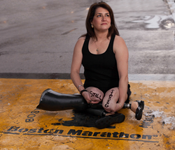 Celeste Corcoran participating in Dear World: Boston Marathon