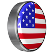 Continental Kit Tire cover by Boomerang with American Flag design