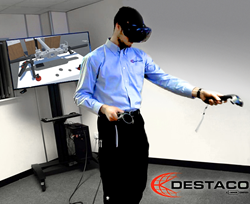 DESTACO's Accelerate Vision Virtual Reality Digital Design Tool for End Effectors