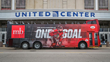 MB Financial Bank and Chicago Blackhawks Takeover Downtown Tour Bus