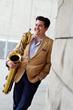 Baritone saxophonist Aaron Lington, who co-leads the Bicoastal Collective. (Photo by Tracy Cavano.)