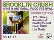 New York Wine Events to Present 3rd Annual Brooklyn Crush Wine & Artisanal Food Festival: Spring Edition at at Industry City, May 13, 2017