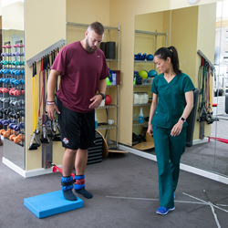 Kyle Auffray in physical therapy at Empire Physical Medicine and Pain Management