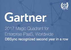 Gartner recognises DBSync, Magic Quadrant for Enterprise iPaaS, Worldwide, 2017